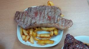 Steak & chips lunch